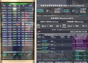 高雄國際航空站公路客運及捷運電子看板系統