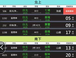 台北車站及周遭Kiosk之火車、公車時刻表應用